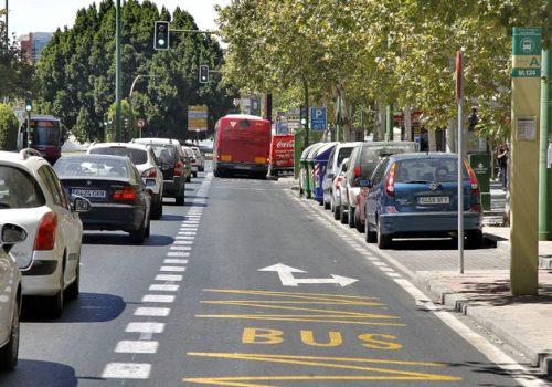 Accidente de tráfico en carril bus
